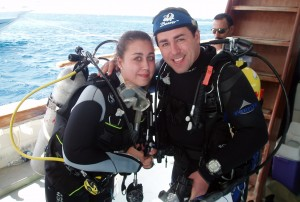 Nicola & Steve Griffiths from Scuba in the Weald, completing PADI scuba diver training in the Red Sea!