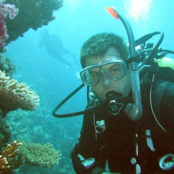 Neil Parfrement PADI Assistant Instructor & Scuba in the Weald Dive Team Member, scuba diving in the Red Sea!