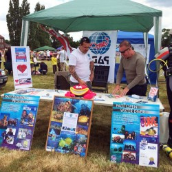 Scuba in the Weald promoting PADI scuba diving courses at the Cranbrook Fair in Kent