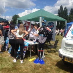 PADI scuba diving courses being offered by Scuba in the Weald at the Cranbrook Fair 2014 in Kent