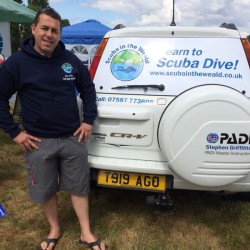 Scuba in the Weald promoting PADI & EFR first aid training in Kent.