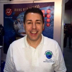 Steve Griffiths PADI Master Instructor from Scuba in the Weald at the Dive Show at LIDS 2014